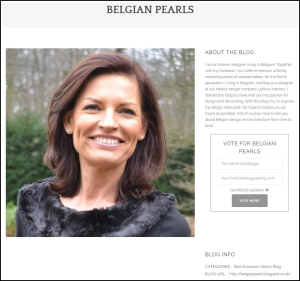 Amara Interior Blog Awards Belgian Pearls Voting page