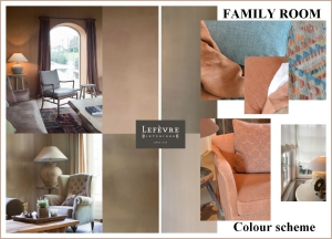 Family room - colour scheme