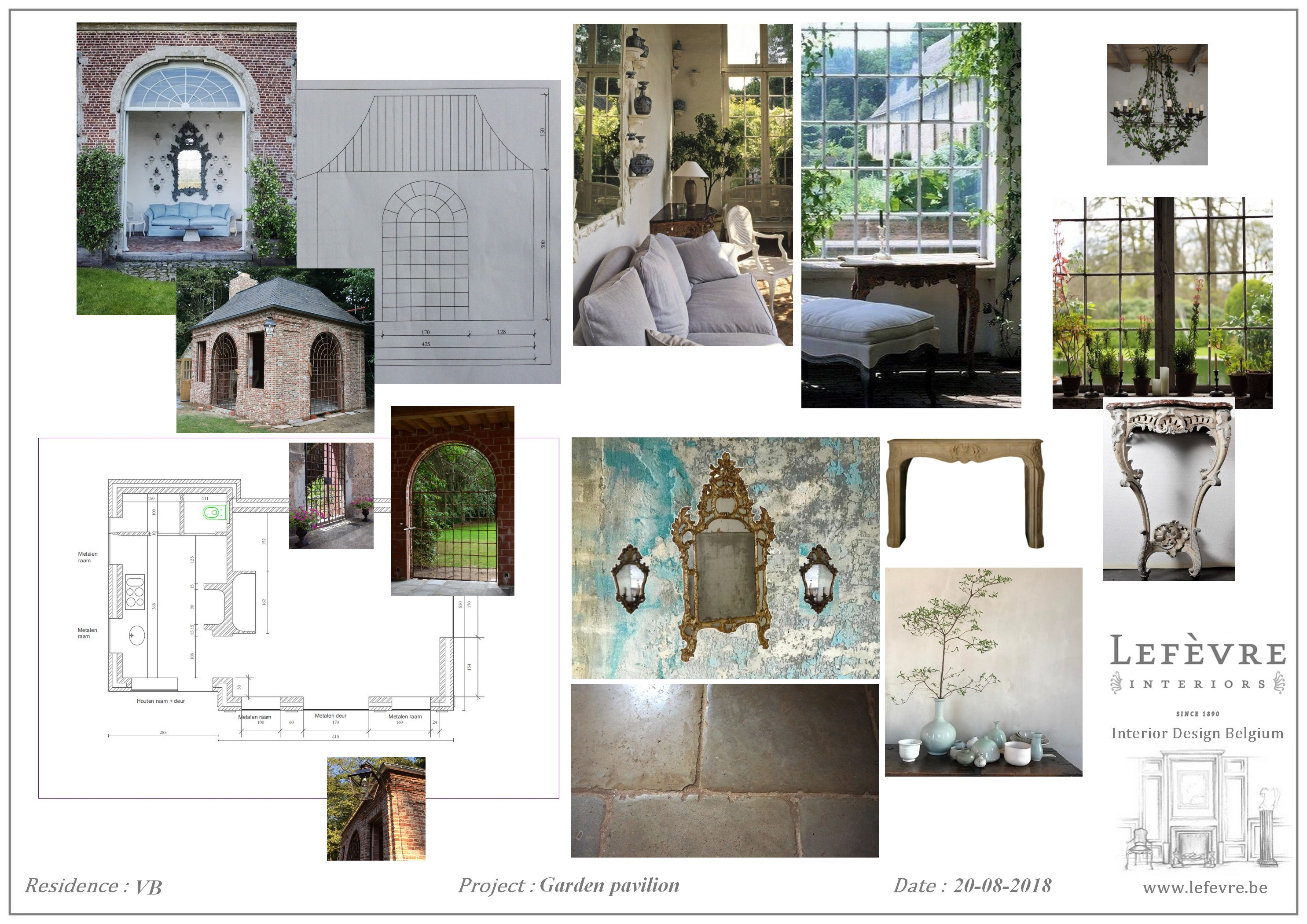 This Is The First Mood Board We Created To Give Our Clients An Idea Of How  We Do See The Interior Design Of Their Newly Built Garden Outbuilding.