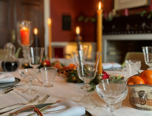 Christmas bubble table setting